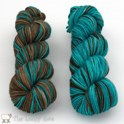 FDW Brown Turquoise The Loopy Ewe