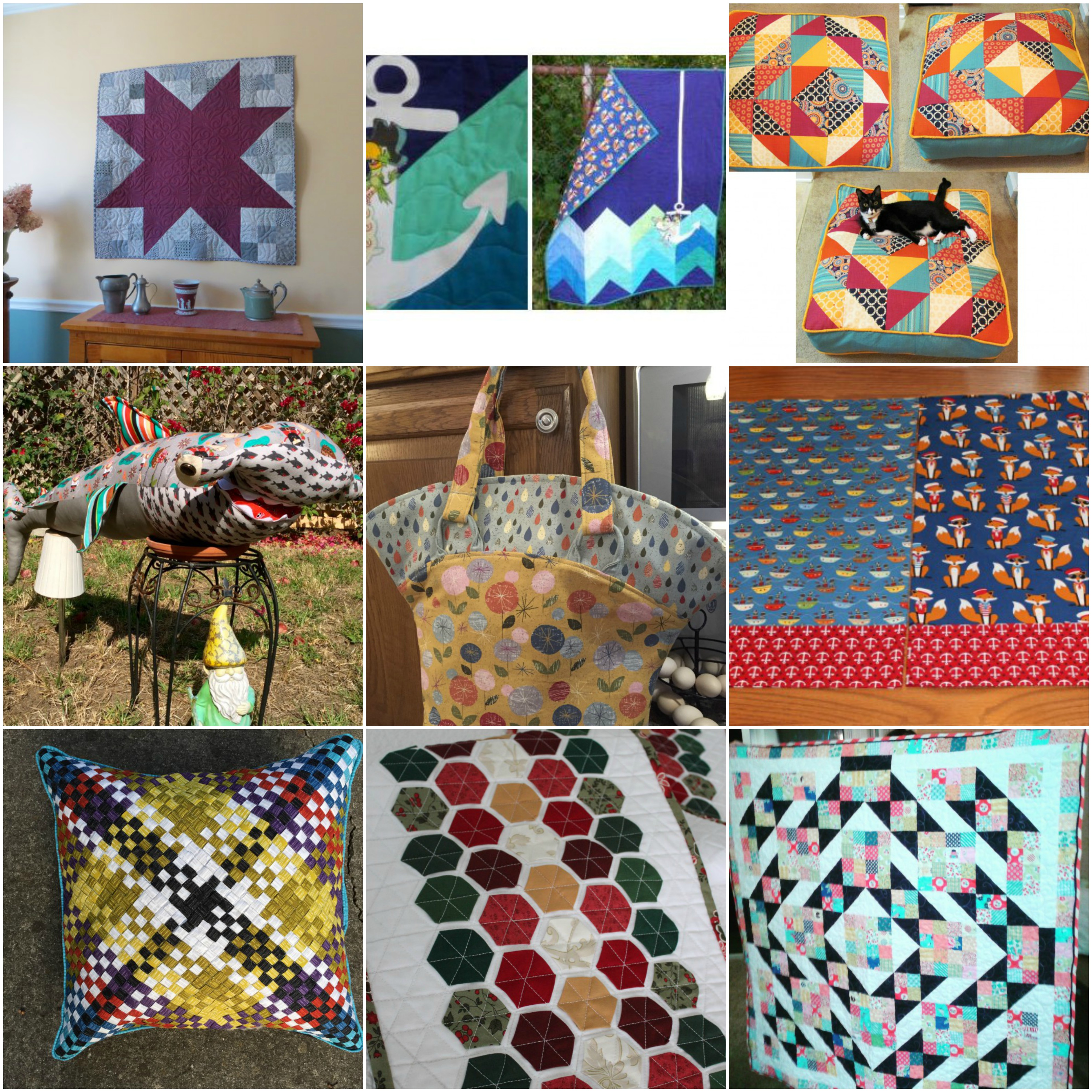 June Fabric Collage