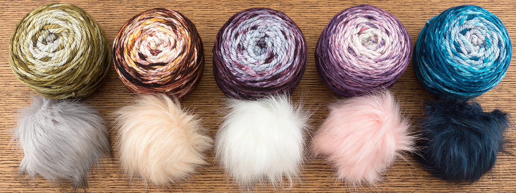 canon hand dyes bulky pompon