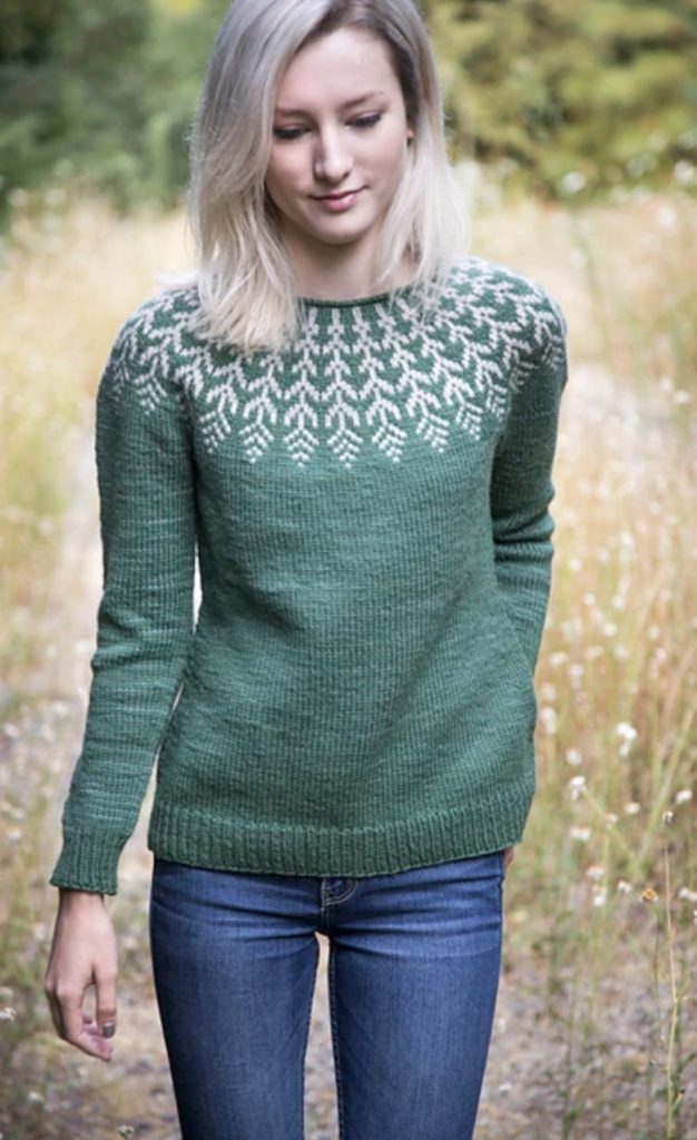 Sweater: Fern & Feather