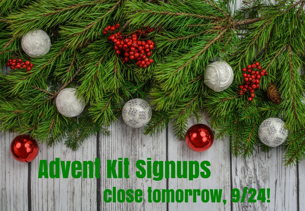 advent/holiday kit signups