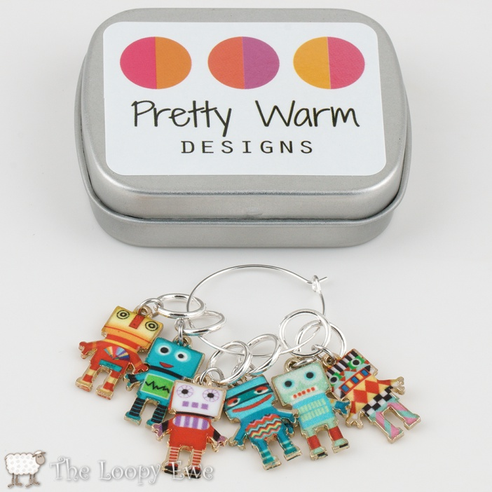 Robot Stitchmarkers © The Loopy Ewe