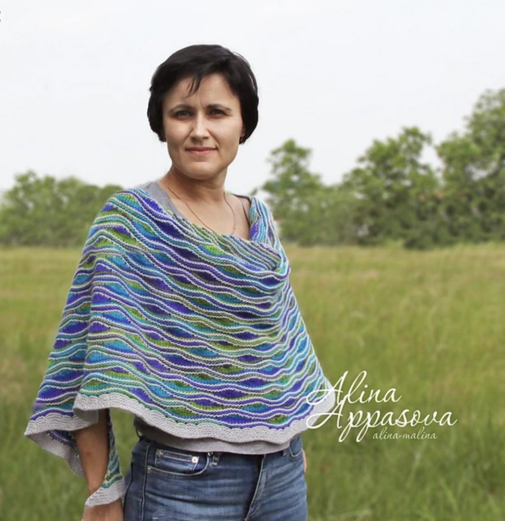 Lakes and Rivers Shawl