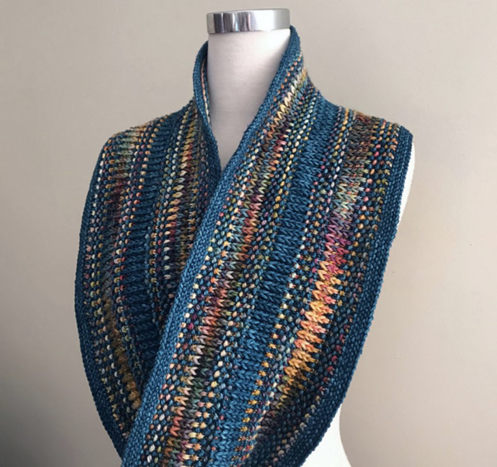Opalescent Multicolored textured cowl