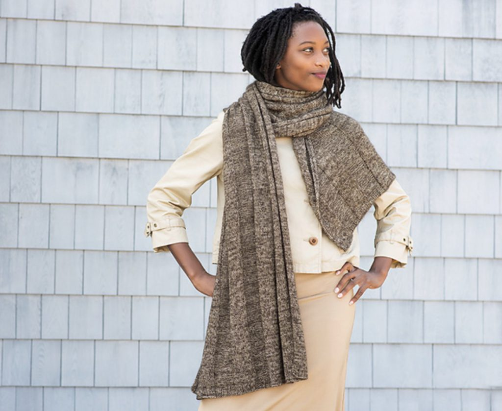 Rapport E Elliott Knits (brown mixed scarf/wrap)