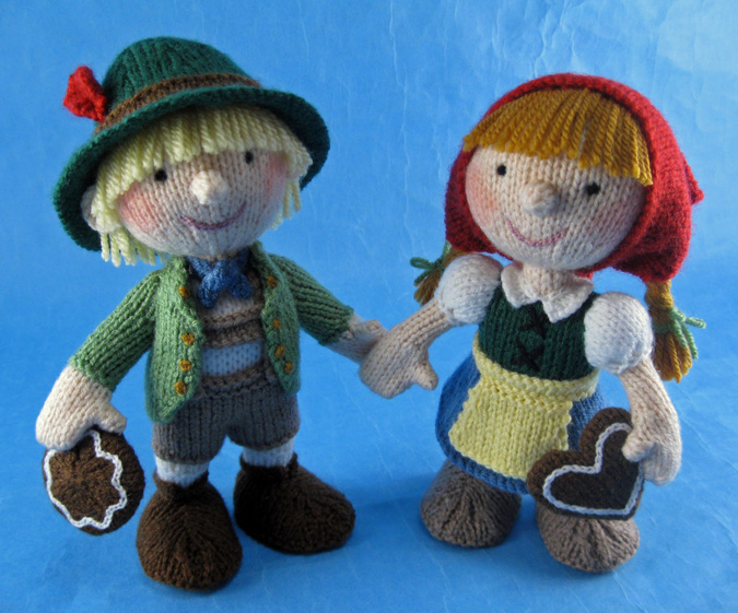 A photo of knitted Hansel and Gretel by Alan Dart